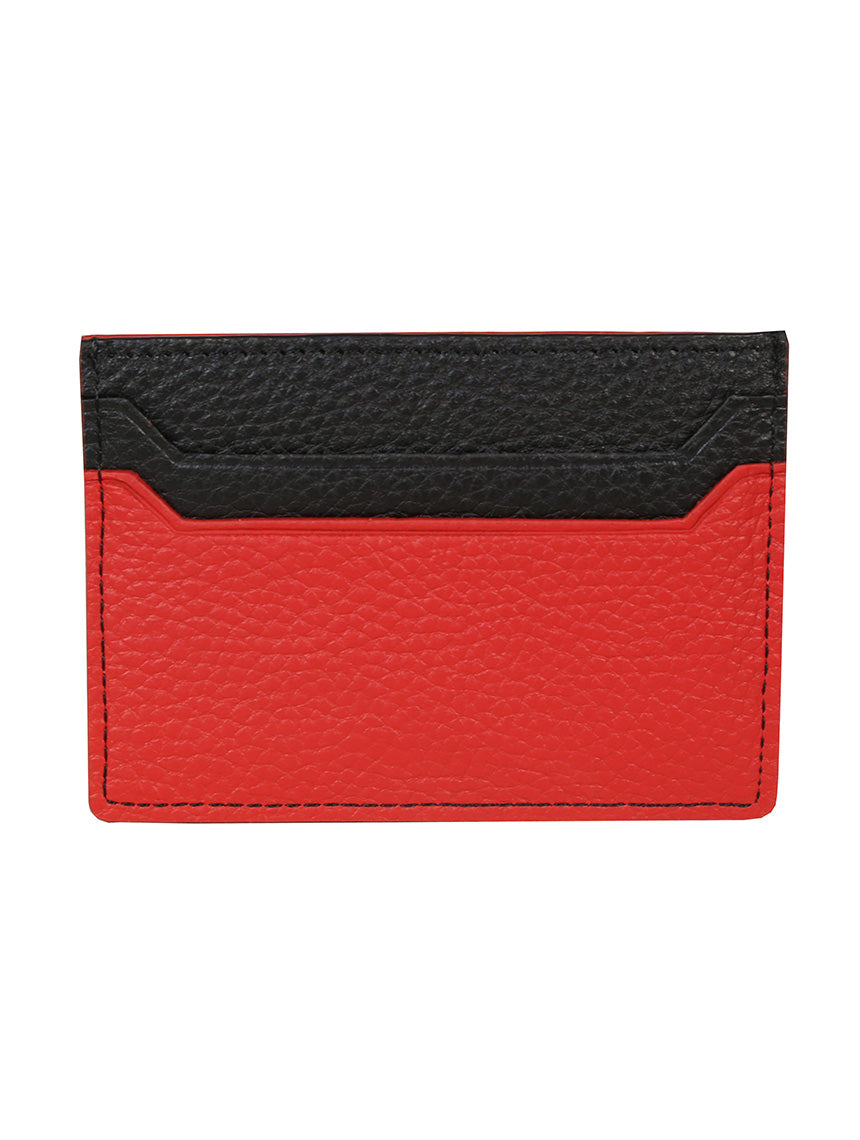 DÉCLIC Block Reverse Credit Card Wallet - Black-Red
