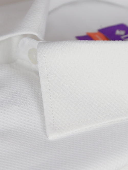 DÉCLIC Formal Brahms Honeycomb Shirt - White