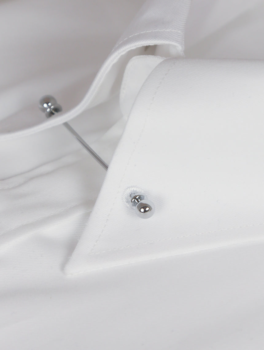 DÉCLIC Sel Slim Pin Collar Shirt - Double Cuff