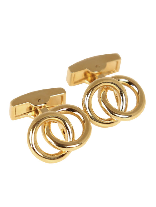 DÉCLIC Linked Ring Cufflink - Gold