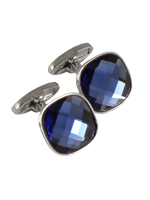 DÉCLIC Bauble Cut Cufflink - Blue
