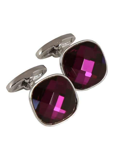 DÉCLIC Bauble Cut Cufflink - Purple