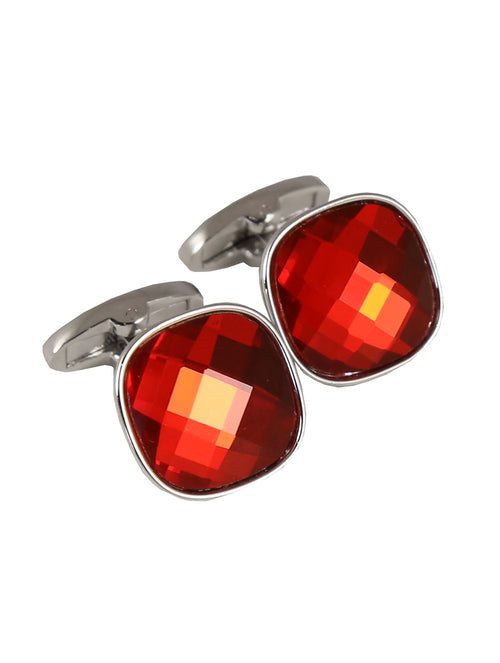 DÉCLIC Bauble Cut Cufflink - Red