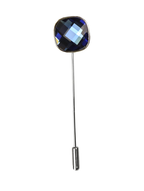 DÉCLIC Bauble Cut Lapel Pin - Blue
