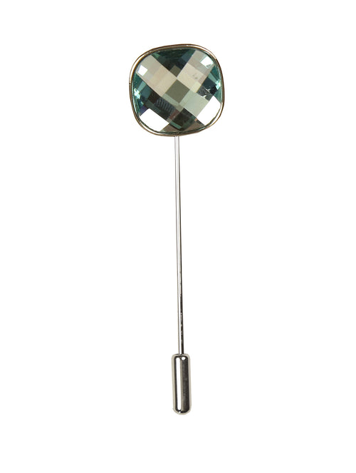 DÉCLIC Bauble Cut Lapel Pin - Aqua