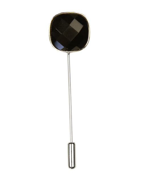 DÉCLIC Bauble Cut Lapel Pin - Black