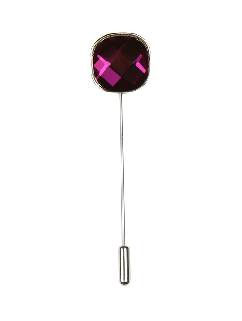 DÉCLIC Bauble Cut Lapel Pin - Purple