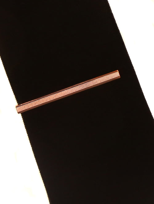 DÉCLIC Strap Tie Bar - Rose Gold