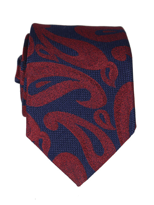 DÉCLIC Rico Paisley Tie - Red-Navy