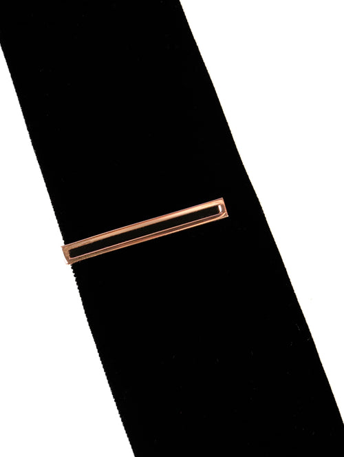DÉCLIC Hollow Tie Bar - Rose Gold