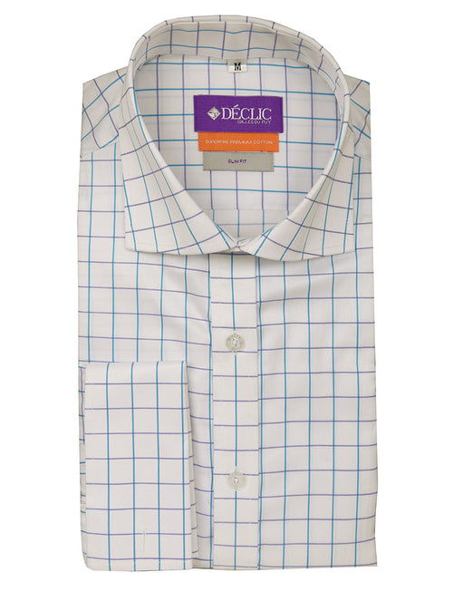 DÉCLIC Daburu Check Shirt - Aqua