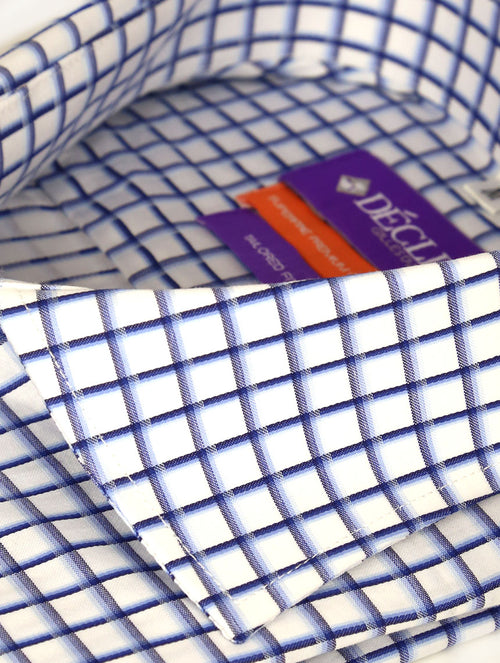 DÉCLIC Atsu Check Shirt - Blue