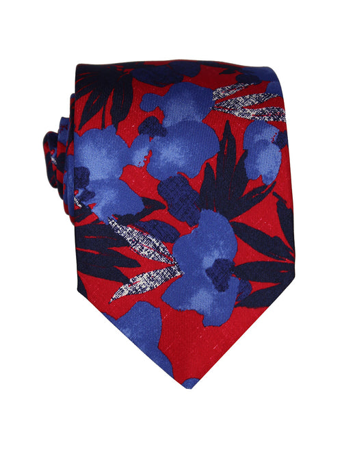 DÉCLIC Sello Floral Tie - Red