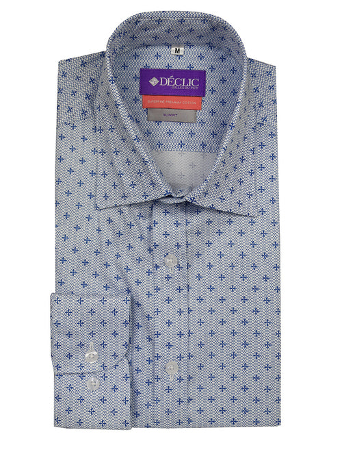 DÉCLIC Knighted Print Shirt - Blue