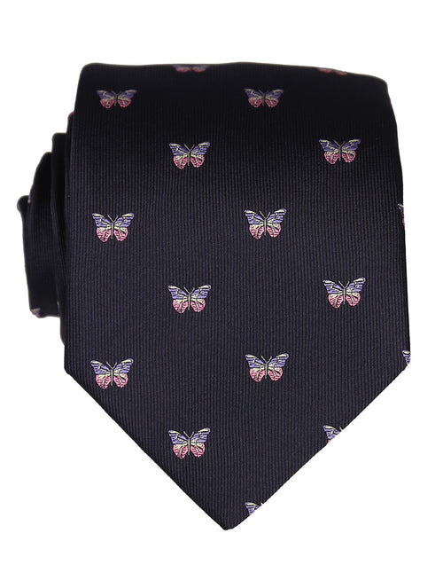 DÉCLIC Butterfly Flying Theme Tie - Navy