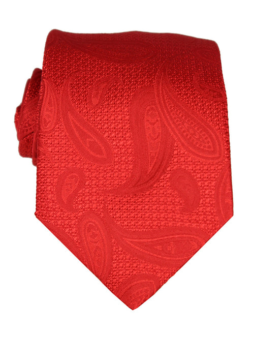 DÉCLIC Emboss Paisley Tie - Red