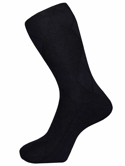 DÉCLIC Plain Diamond Socks - Black