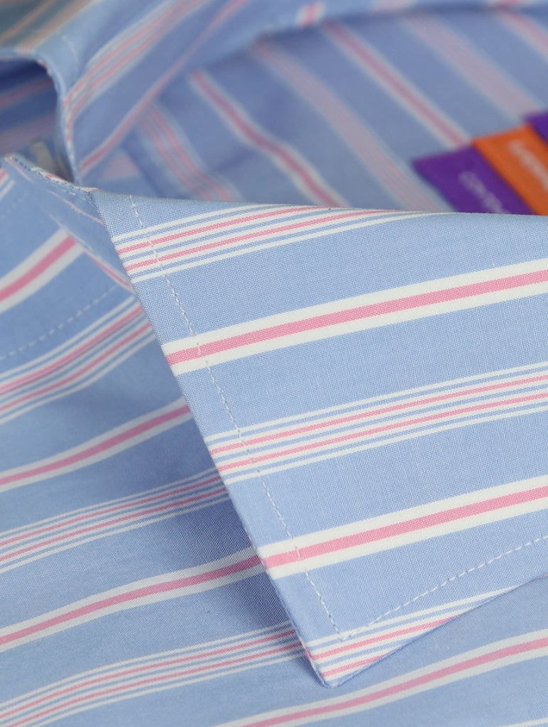 DÉCLIC Flitwick Stripe Shirt - Blue