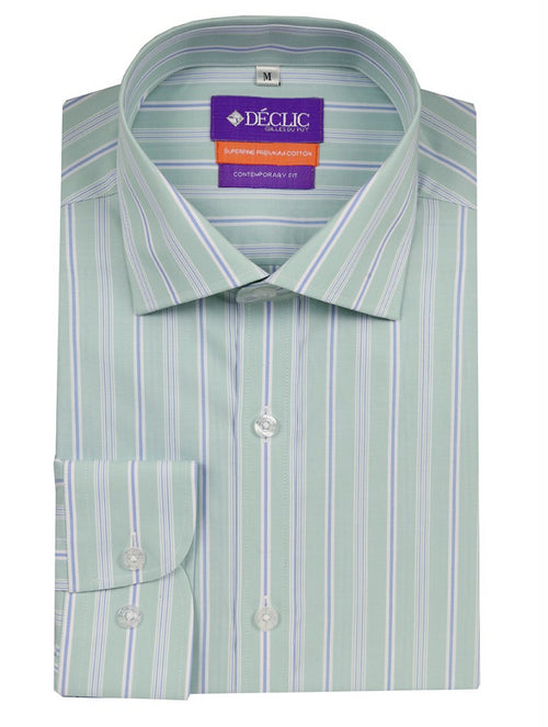 DÉCLIC Flitwick Stripe Shirt - Green