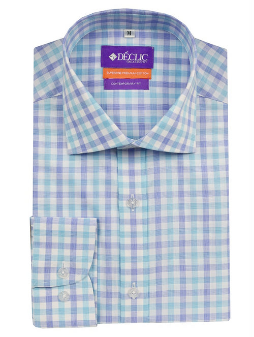 DÉCLIC Dursley Check Shirt - Blue