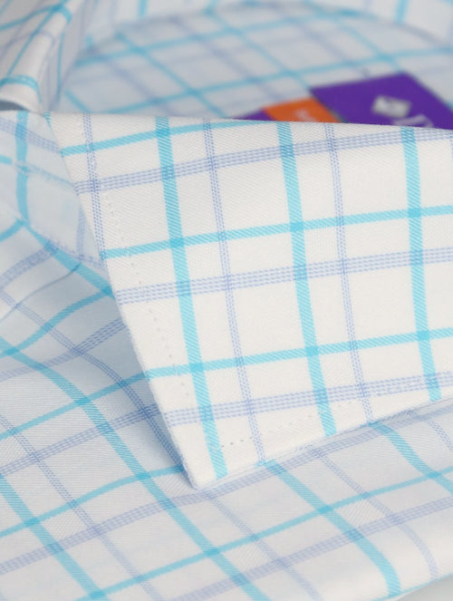 DÉCLIC Acton Check Shirt - Aqua