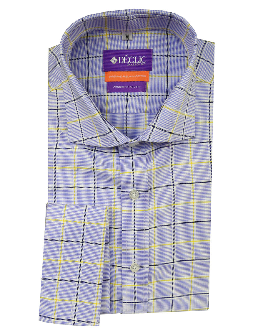 DÉCLIC Owen Check Shirt - Blue