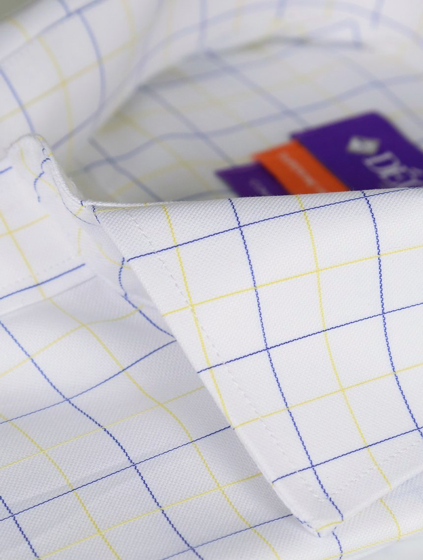 DÉCLIC Wright Check Shirt - Yellow