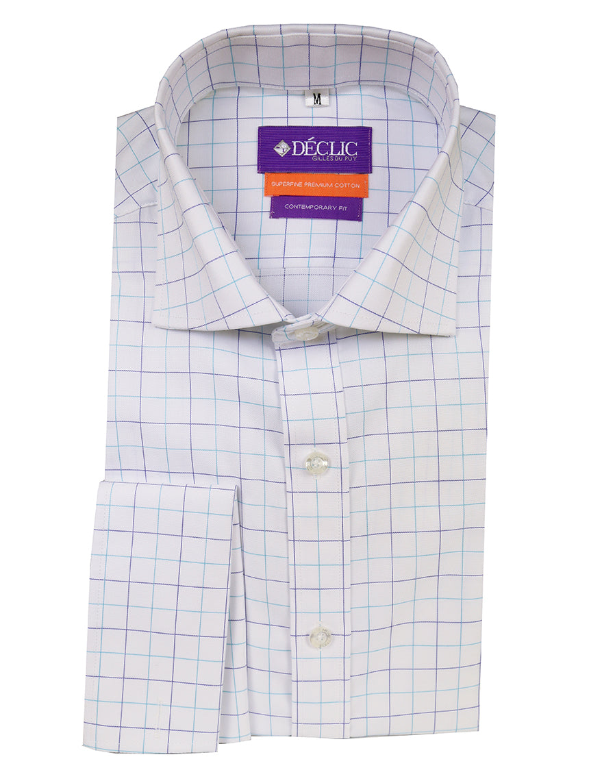 DÉCLIC Wright Check Shirt - Aqua