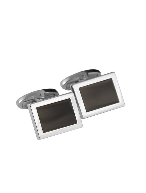DÉCLIC Graduating Rectangle Cufflink - Black