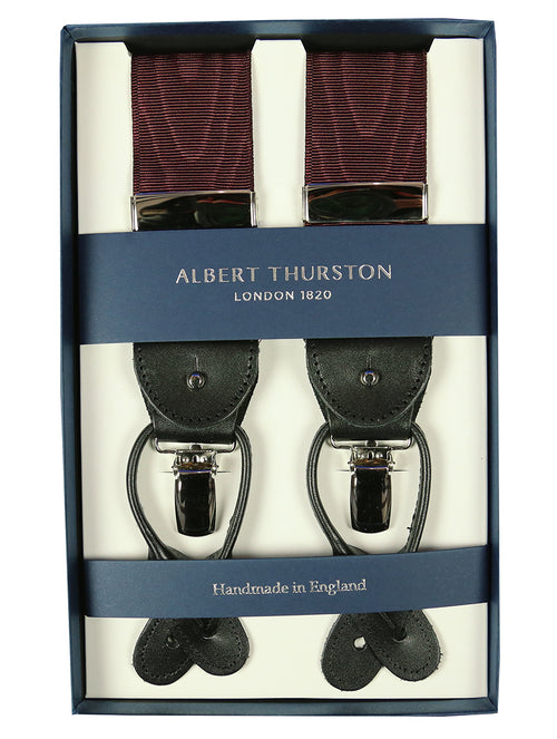 AT Moire Watermark 2-in-1 Braces - Wine