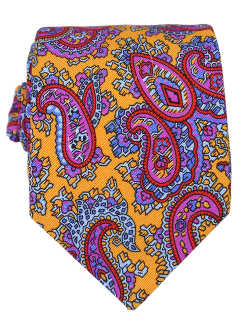 DÉCLIC Badiner Paisley Tie - Yellow