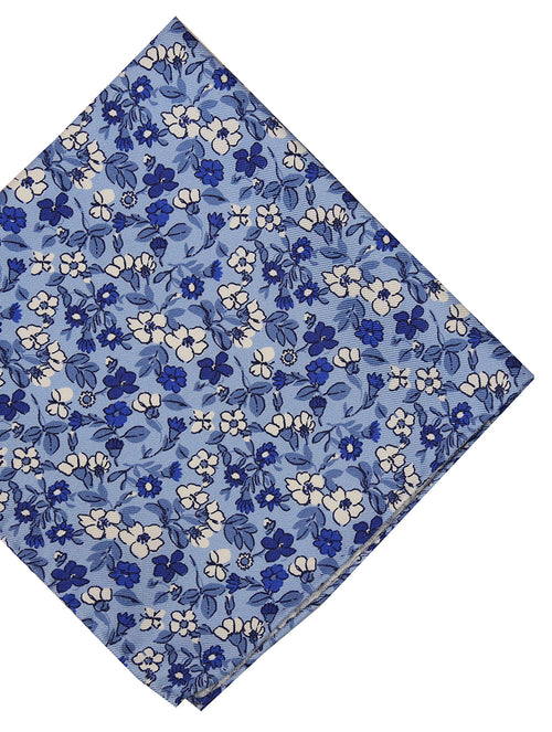 DÉCLIC Lapiz Floral Pocket Square - Blue