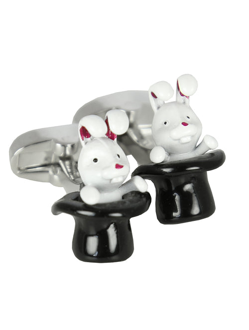 DÉCLIC Rabbit in a Hat Cufflink - Silver