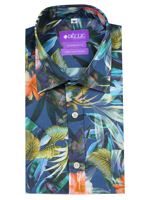 DÉCLIC Lilium Print Short Sleeve Shirt - Assorted