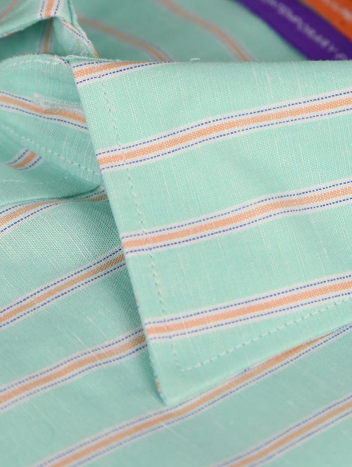 DÉCLIC Jarrow Linen Stripe Shirt - Mint