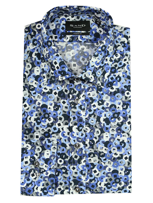 SD Coinage Print Shirt - Blue