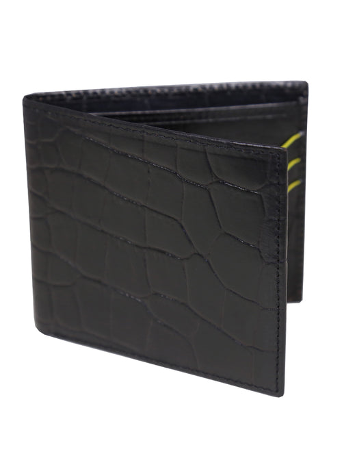 DÉCLIC Portofino Bi-Fold Wallet - Black-Yellow