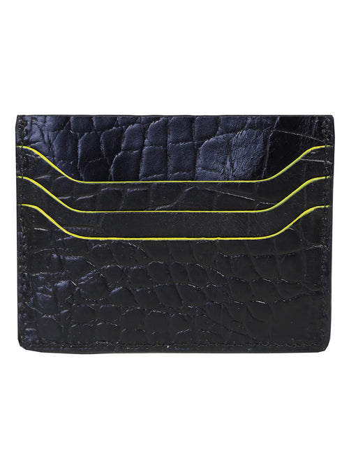 DÉCLIC Portofino Reverse Credit Card Wallet - Black-Yellow