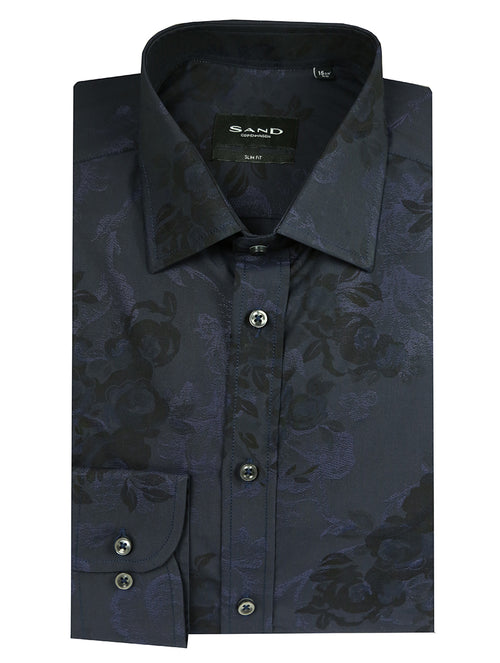 SD Tonal Floral Shirt - Navy