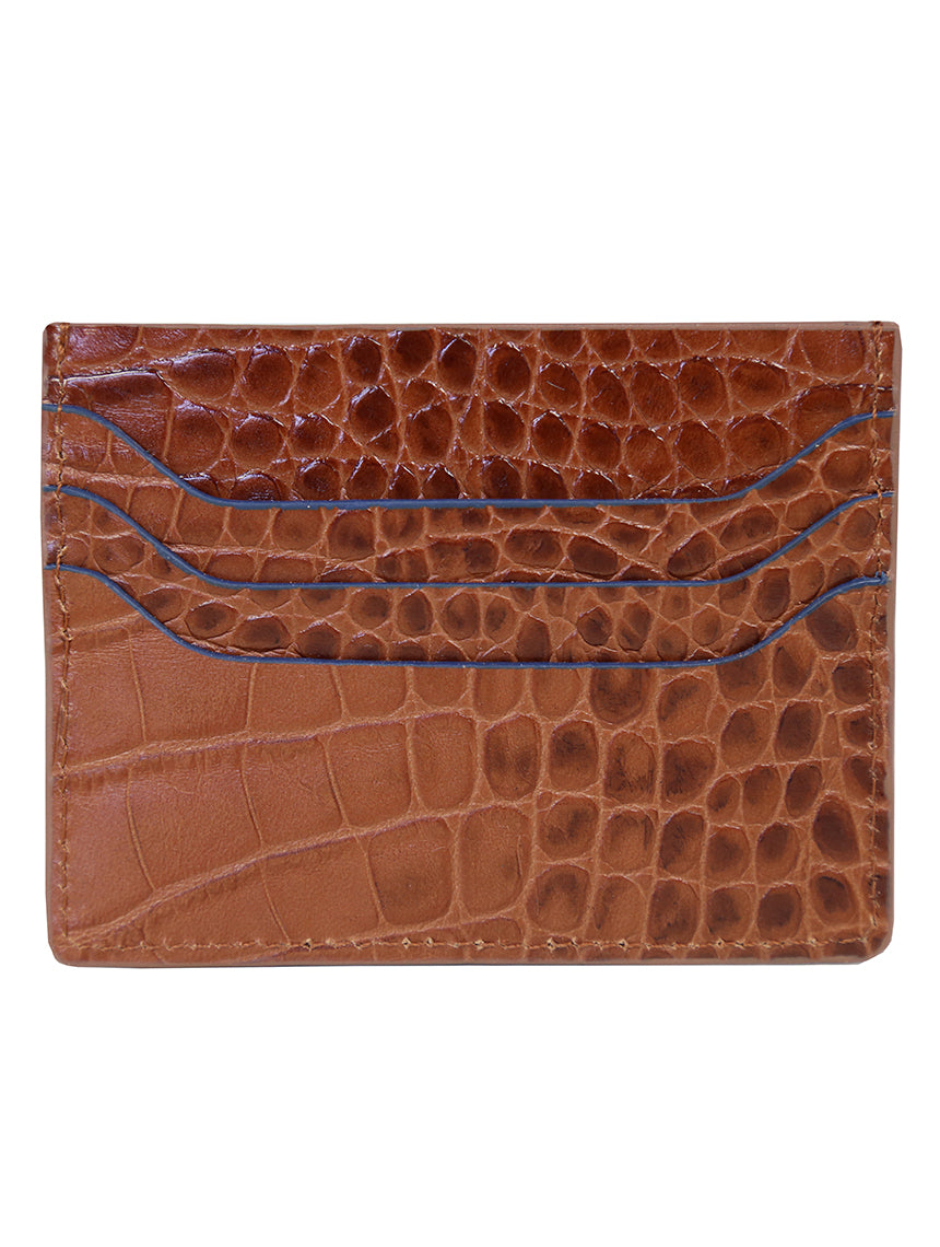 DÉCLIC Portofino Reverse Credit Card Wallet - Tan-Navy