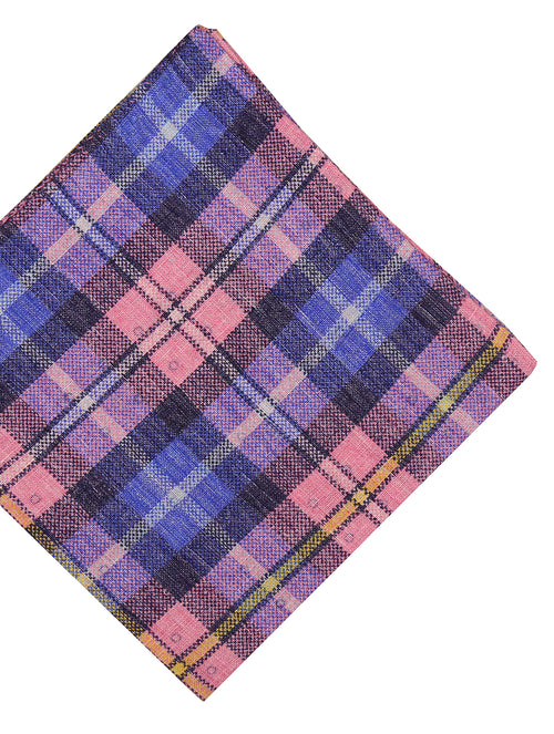 DÉCLIC Jardin Check Pocket Square - Pink