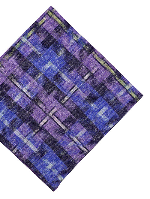 DÉCLIC Jardin Check Pocket Square - Purple