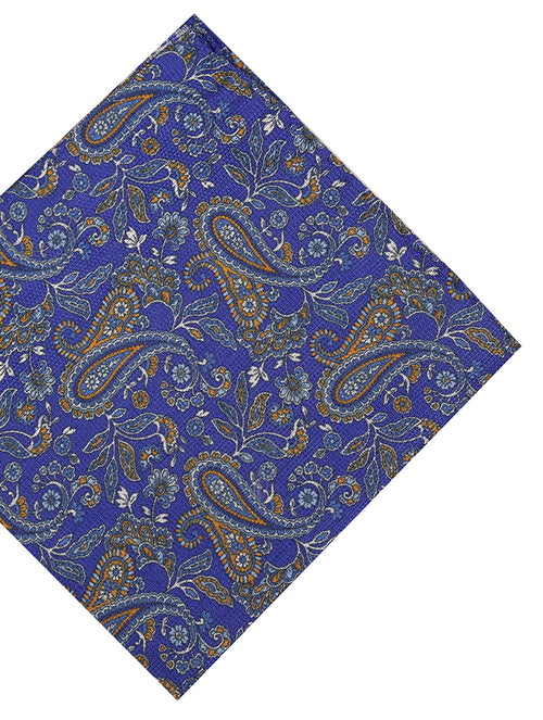 DÉCLIC Gravira Paisley Pocket Square - Blue