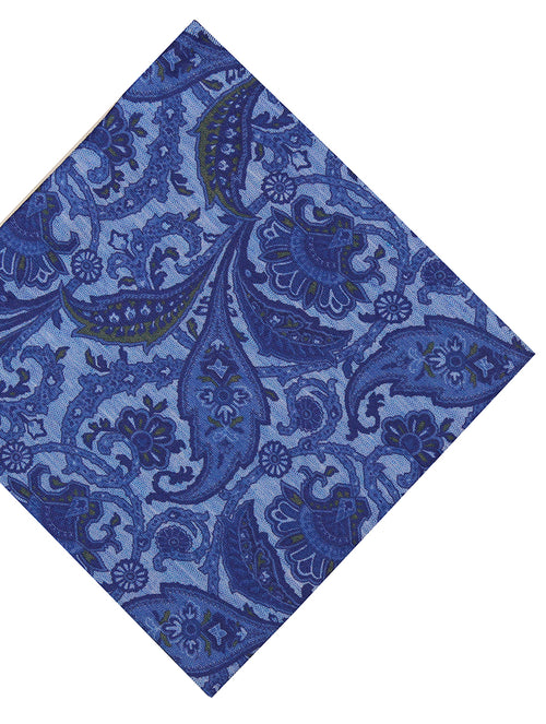 DÉCLIC Enprime Floral Pocket Square - Blue