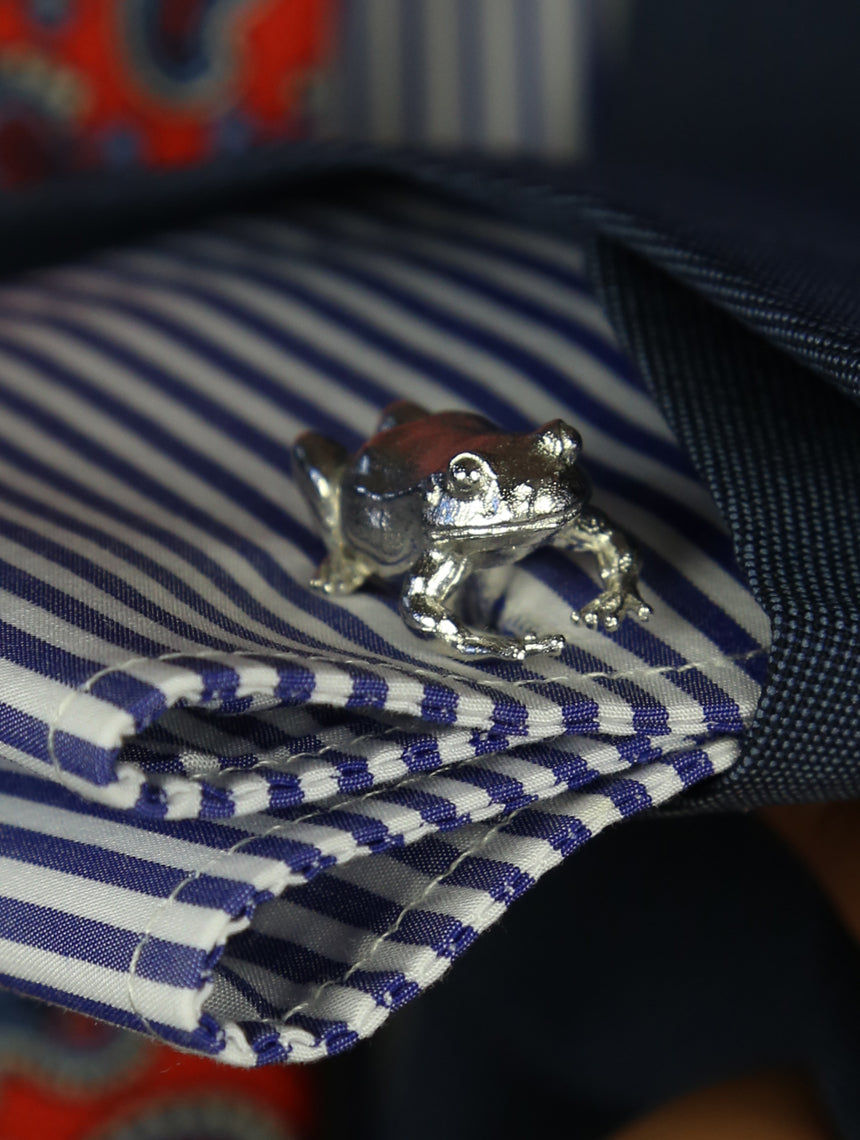 DÉCLIC Frog Cufflink - Sterling Silver