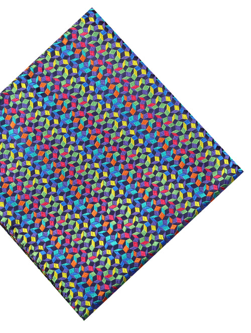 DÉCLIC Saiph Pocket Square - Green/Assorted