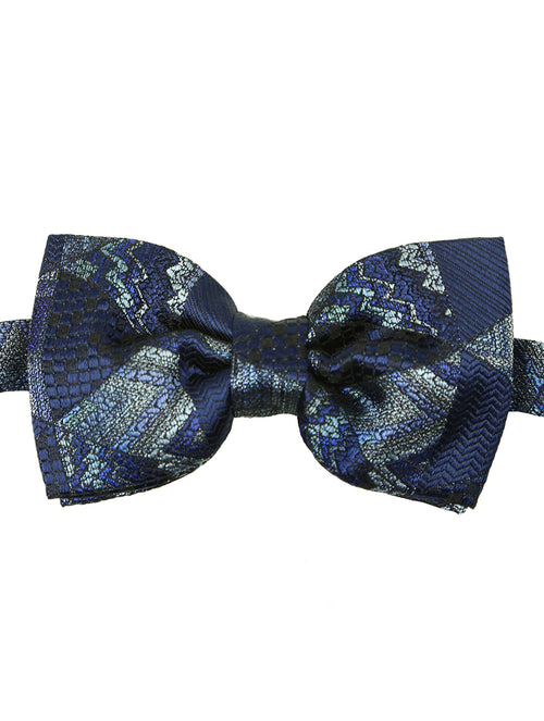 DÉCLIC Monolith Patterned Bow Tie - Navy