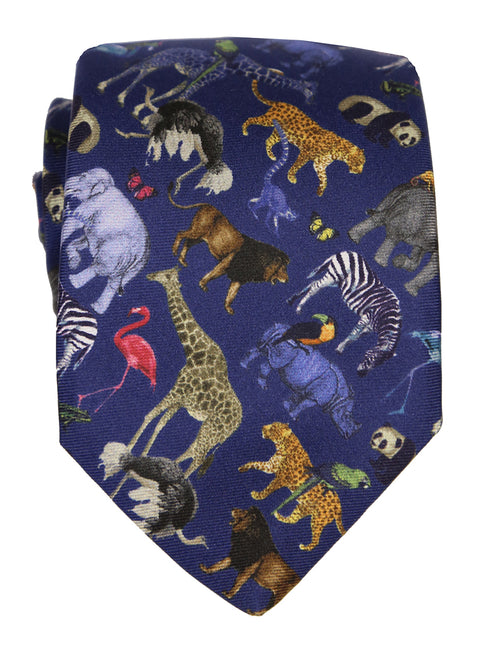 DÉCLIC Ark Night Pattern Tie - Navy