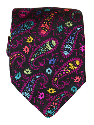 DÉCLIC Crever Floral Tie - Navy/Red