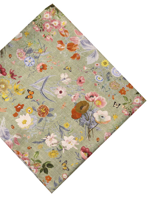 DÉCLIC Perimore Floral Hanky - Green